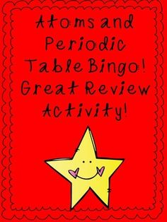 Atoms and periodic table i have who has review game group atoms periodic table bingo urtaz Choice Image