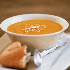 Curried Carrot, Sweet Potato, and Ginger Soup - 25 Healthy Sweet Potato Recipes - Health Mobile