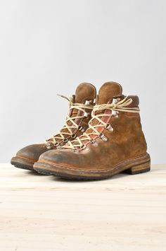 (d)STORE — guidi - lined cordovan hiking boot Vintage Leather, Vintage Men, Leather Men, Leather Boots, Me Too Shoes, Men's Shoes, Shoe Boots, Dress Shoes, Ugg Boots