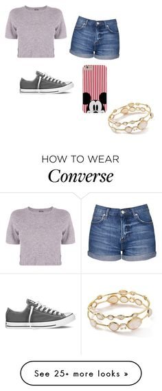 """Date maybe... "" by demi-s-driver on Polyvore featuring Ippolita, Monrow, Topshop and Converse"