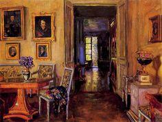 Grand Duke Michael's Brasov estate painted by Stanislav Zhukovsky, c. 1916. - Rocaille