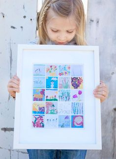 Get control of your child's ever-growing art collection! Create a beautiful collage display of their work and display it in your home.