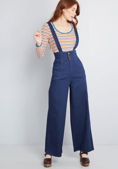 af56a3e67fd Denim Reverie Wide-Leg Pants These denim trousers from Collectif will  transform even the most