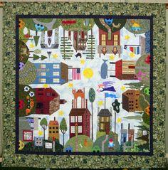 """All Around the Town"" variation by Teresa Rawson, design by Sue Garman"