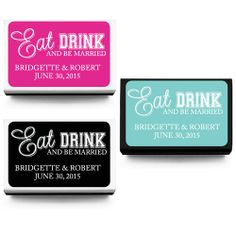 Eat Drink and Be Married Personalized Matchboxes - 50 pcs - Personalized Matches - Personalized Wedding Favors - Wedding Favors - Wedding Fa...