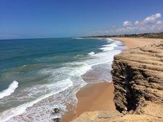 Playa de Zahora vista desde el acantilado del Faro