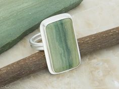Owyhee Jasper Ring  8 Sterling Silver by ColoredInStone on Etsy, $87.00