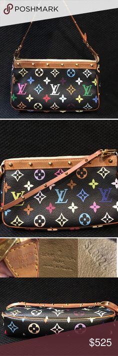 Louis Vuitton Murakami Pochette Handbag purse! Beautiful Authentic Louis Vuitton handbag purse with studs! 9x5. Louis Vuitton Bags Shoulder Bags
