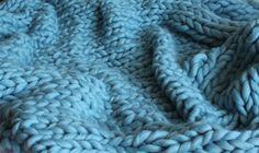 Chunky Blanket Large blanket .Grande punto. Chunky от DelickGoods