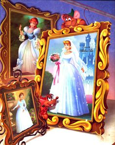 Cinderella Wedding (Cinderella, her mother and Prince Charming's mother as brides)