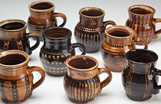 From Hatchville Potters in Massachusetts. British slipware potters workshop on Cape Cod. Love the work. All Things New, Sculpture Clay, Cape Cod, My Favorite Color, New England, Tea Cups, Workshop, British, Pottery