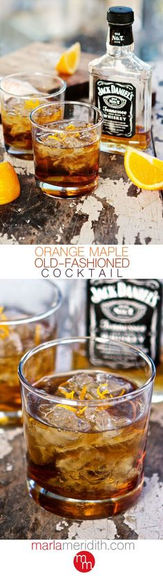 Orange Maple Old-Fashioned Cocktail --perfect signature drink for a birthday celebration.