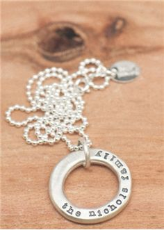 Lisa Leonard Jewelry - can't wait to get this in pewter with the kids names or initials!