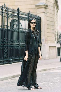 all black sheer in paris...ming xi