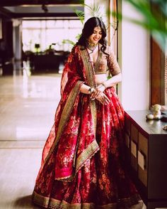 Floral lehenga ideas for summer wedding inspiration. A pastel hued bridal lehenga will be perfect for your summer wedding. Indian Bridal Outfits, Indian Bridal Lehenga, Indian Bridal Fashion, Indian Bridal Wear, Indian Designer Outfits, Bridal Dresses, Indian Wear, Indian Wedding Clothes, Lehenga Wedding Bridal