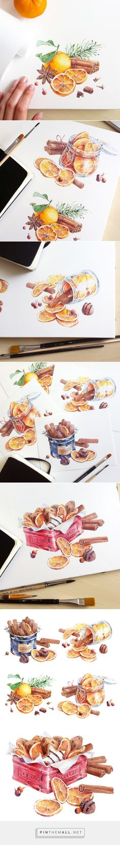 Dried oranges and cinnamon on Behance... - a grouped images picture - Pin Them All
