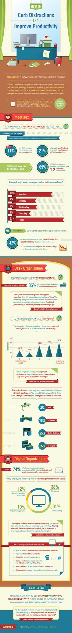 Infographic For The Win! How To Curb Distractions And Improve Productivity
