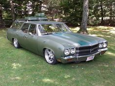 '70 Chevelle Wagon -- Nomad. Mama's dream wagon.