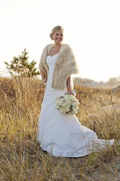 I picture snow at my winter wedding. But I love this look.