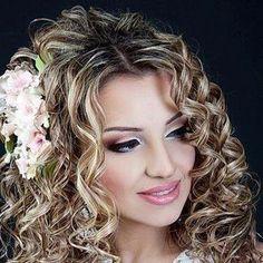 wedding curly hair
