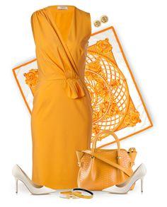 """Hermes Silk Scarf"" by diane-hansen ❤ liked on Polyvore featuring Hermès, Ports 1961, Nina Ricci, Jimmy Choo, jimmychoo and hermes"