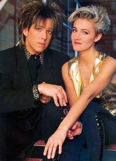 Marie Fredriksson and Per Gessle, Roxette. Marie Fredriksson, Roxette Band, Top 40 Hits, Vanessa Williams, 80s Pop, 80s Music, Types Of Music, Pop Rocks, Star Wars