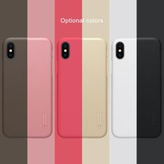 Super Frosted Shield Hard Back Phone Case For Apple Iphone X Protect Film