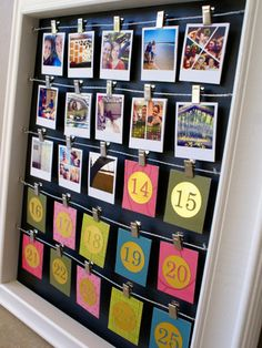 Relive the highlights of your year each Advent day when you flip over a number on this Instagram photo calendar.