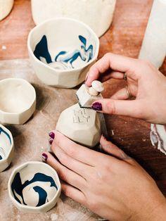 Gem vessels by Sydney ceramicist Milly Dent