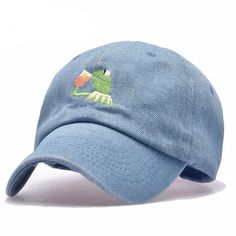 Embroidered Kermit None Of My Business Baseball Cap - 4 Colors