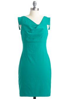 (11. Your top three ModCloth dresses for success)  Perfect Aqua-tion Dress  Green is my favorite color and this Aqua shade is simply gorgeous. With a blazer to keep it modest this dress will have me dressed for success  #modcloth #makeitwork
