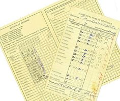 Remember when report cards looked like this? and they were better now i dont understand them lol...