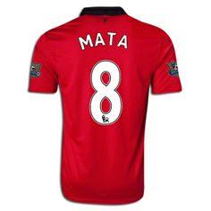 2013/14 Manchester United Juan Mata Home Soccer Jersey