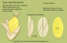 Corn on the cob punch art.
