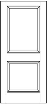 Exterior-square-raised-2TCEXT | Woodport Doors