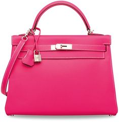 8d3c812016ea A Candy Collection Rose Tyrien   Rubis Epsom Retourné Kelly 32 With Palladium  Hardware. Hermes