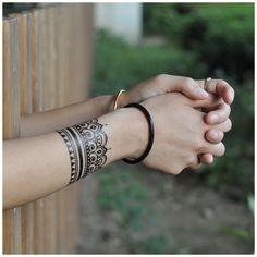 Tribal Band Tattoo, Wrist Band Tattoo, Tattoo Henna, Mandala Tattoo, Wrist Henna, Wrist Bracelet Tattoo, Jagua Tattoo, Jewelry Tattoo, Mandala Sleeve