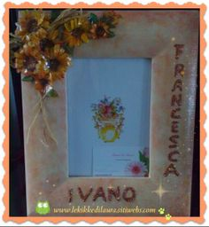 painted wood frame and sospeso trasparente technique...by Le Kikke di Laura