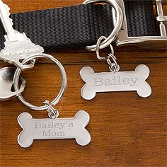 Personalized key ring and pet charm set
