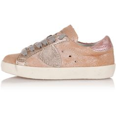 PHILIPPE MODEL PARIS Leather CLASSIC Sneakers Kid (3.640 RUB) ❤ liked on Polyvore featuring pink