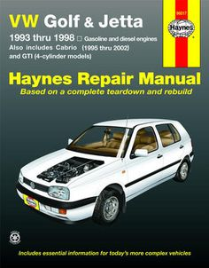 Vw jetta radio removal vw pinterest vw and repair manuals vw golf gti jetta 1993 1998 vw cabrio 1995 2002 haynes repair fandeluxe Choice Image
