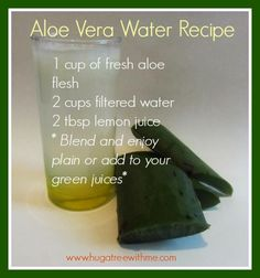 Aloe Vera Water #Recipe #healthy