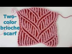 Two-color brioche cable pattern + free chart inserted into video - YouTube