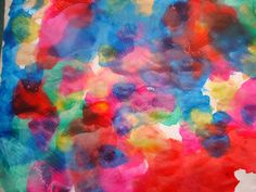 Straw painting for pre-schoolers and toddlers.  Beautiful colors!  https://lovenloot.blogspot.com