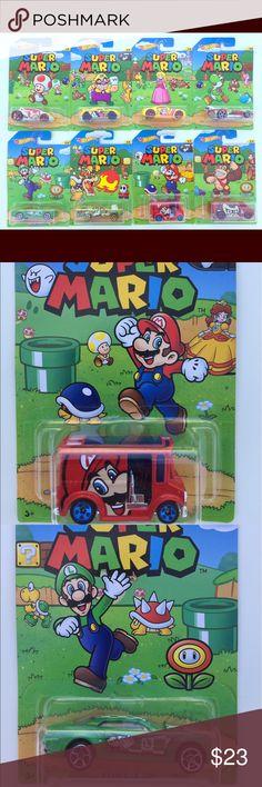 8 Collectibles Cars Limited Edition Super Mario Complete Set of 8 New Cars Hot Wheels, Nintendo Super Mario, 2016 Limited Edition.   Includes:  1/8   Vandetta - Toad 2/8   Ryura LX - Luigi  3/8   RD-08 - Wario 4/8   Cruise Bruiser - Bowser 5/8   Bully Goat - Princess Peach  6/8   Bread Box - Mario 7/8   Flathead Fury - Yoshi 8/8   Super Van - Donkey Kong Other