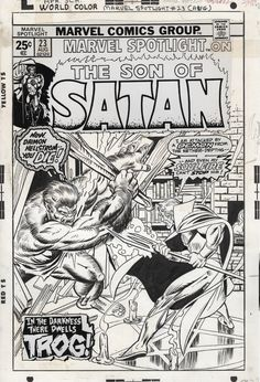 Original cover art by Gil Kane for Marvel Spotlight #23, August 1975.