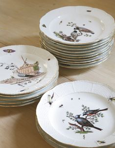 Bunny Mellonu0027s Eighteen Meissen ornithological plates circa 1755-80; Sothebyu0027s & The Most Beautiful China Patterns for Your Fall Table | China ...