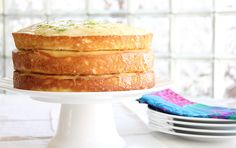 "Chabela Wedding Cake- yellow cake with homemade lime curd. ""Baking Like Water For Chocolate"" via ScarlettaBakes. Round Cake Pans, Round Cakes, Sweet Loaf Recipe, Like Water For Chocolate, Lime Cake, Esquivel, Pastel, Classic Cake, Cake Flour"