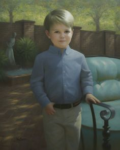"""Painting by Brian Neher, Portrait of Stephen, 30"""" x 24"""", Oil on Linen www.BrianNeher.com"""
