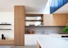 Kitchen | Port Melbourne House by Pandolfini Architects | est living Modern Kitchens, Home Kitchens, Contemporary Kitchens, Kitchen Modern, Terrazzo Tile, Joinery Details, Melbourne House, Australian Homes, Victorian Cottage